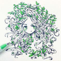 I love this drawing ! Art Manga, Art Anime, Anime Kunst, Art Inspo, Kunst Inspo, Fantasy Kunst, Fantasy Art, Art And Illustration, Illustrations