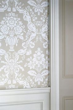 Farrow & Ball Wallpapers - St Germain is from the Wimborne Papers collection and is one of two designs, Melrose and St Germain.