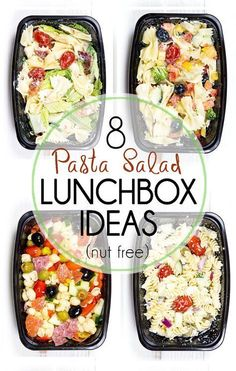 Salad Lunch Box Ideas (Nut Free) 8 Make Ahead Pasta Salad Lunch Box Ideas that are quick and easy. A great pack and go lunch option for school lunches (nut free), and great for adults too.Full Speed Ahead Full Speed Ahead may refer to: Pasta Lunch, Pasta Salad, Tuna Pasta, Ham Salad, Couscous Salad, Lentil Salad, Rice Salad, Shrimp Salad, Shrimp Pasta