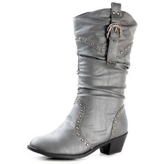 Amazon.com   West Blvd Womens MOSCOW COWBOY Boots Cowgirl Western... ($25) ❤ liked on Polyvore featuring shoes, boots, slouch cowboy boots, mid-calf boots, mid calf cowboy boots, cowgirl boots and grey slouch boots