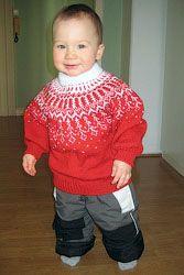 Описание вязания свитера с круглой кокеткой на ребенка (размер 86-92 на возраст 1,5-3 года)