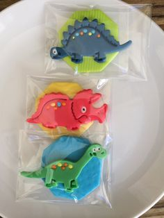 Fondant Dinosaur Cupcake toppers by FireflyEdibleDesigns on Etsy, $17.00