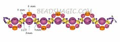 Free pattern for necklace Smuzi | Beads Magic - 2--U need Seed beads 11/0, Pearl beads 4mm & 6mm, Faceted beads 4mm & 6mm.