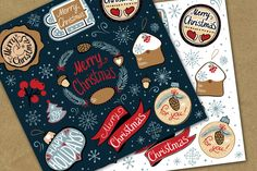 Merry Christmas decorate label by Samira on Creative Market