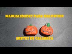 Manualidades Para Halloween,Calabaza aretes o dijes aterradores - YouTube