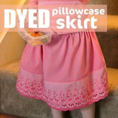 dyed pillowcase skirt