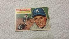 1956 Topps Brooklyn Dodgers Pee Wee Reese single baseball card