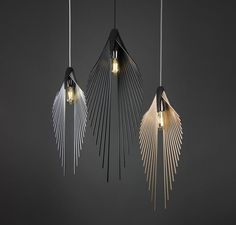As its name suggests, the shape of this pendant was mainly influenced by palm leaves, a form that gives a… more