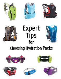 How to choose the right hydration pack for your activity.