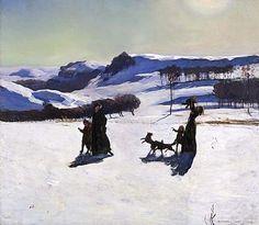 Snow Fields (Winter in the Berkshires) by Rockwell Kent / American Art  1909