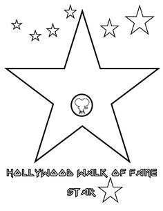 Hollywood star color sheet!