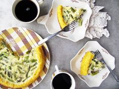 polenta crust asparagus quiche + 4 other delicious recipes on this week's Rainbow Delicious Meal Plan.