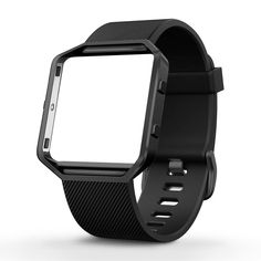 Silicone Replacement Band with Gunmetal Frame for Fitbit Blaze Smart LARGE New #FitbitBlaze