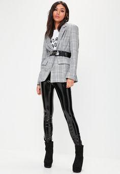 Missguided - Grey Checked Blazer