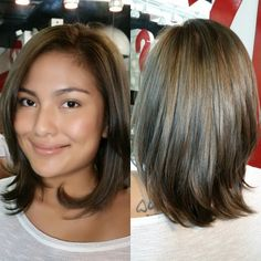 Shoulder-Grazing Haircut With Layered Ends/thick hair