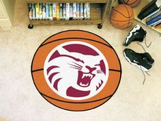 "Cal State - Chico Basketball Mat 27"" diameter"