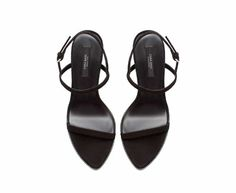 SUEDE STRAPPY SANDAL from Zara