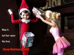 dick in the box, elf on the shelf, funny pictures of barbie - Dump A Day Muse, Bad Barbie, Naughty Elf, Dump A Day, Thing 1, Thats The Way, Christmas Humor, Merry Christmas, Christmas Barbie