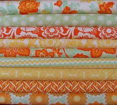 This orange is awesome!   Heirloom Collection by Joel Dewberry for Free Sprit Fabrics - available from SistersandQuilters