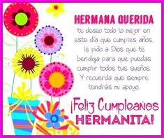 Happy Birthday Wishes Spanish, Happy Birthday Quotes, Cute Imagines, Love My Sister, Bday Cards, Happy B Day, Sister Birthday, Diy For Girls, Happy Mothers