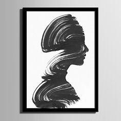 E-HOME®+Framed+Canvas+Art+Abstract+A+Woman+Portrait+Framed+Canvas+Print+One+Pcs+–+GBP+£+26.17