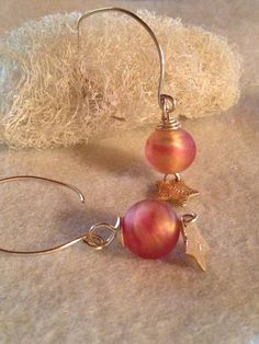 Glass Earrings Dangle Earrings Venetian Glass by LadonnaStudio, $39.00