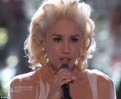 Breakup song: Gwen Stefani delivered an emotional performance of her breakup anthem on Monday's episode of The Voice