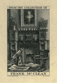 Bookplate of Frank McClean 1837-1904 Astronomer & expert & pioneer in the study of spectra