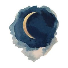 Moon Series- Waning Crescent Print - Image 1 of 3