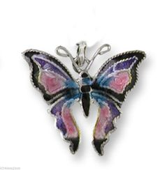 Zarah Madame Butterfly CHARM Sterling Silver & Enamel - Jump Ring - New Item #Zarah #Traditional