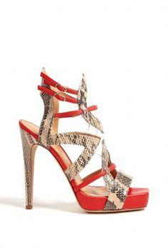 Amerindien Python Cut-out High Sandals by Aperlai Paris @}-,-;--