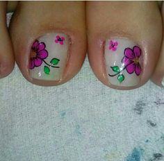 New Nail Art Design, Summer Toe Nails, Toe Nail Designs, Toenails, Toe Nail Art, Cute Nails, Tattoos, Crochet Table Runner, Sour Cream