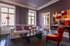 Bilder, Vardagsrum, lila, Soffa - Hemnet Inspiration