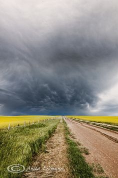 Prairie Storm - Drumheller, Alberta, Canada. This is such a common sight in the summer in Alberta.