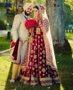 43 new ideas wedding dresses indian men bridal lehenga Muslim Wedding Dresses, Indian Wedding Outfits, Bridal Outfits, Dream Wedding Dresses, Bridal Dresses, Bridesmaid Dresses, Sikh Bride, Indian Bride And Groom, Punjabi Bride