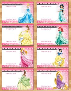 Printable Custom Disney Princess Food Tents - Editable PDF - Add your own text! This adorable set of Disney Princess Food Tents is the perfect way to decorate for your little ones birthday party! Complete Party Package now available! Disney Princess Birthday Party, First Birthday Parties, Cinderella Party, Princess Tea Party Food, Princess Party Games, Tangled Party, Tinkerbell Party, 4th Birthday, Disney Princess Food