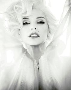 Milla Jovovich as Marilyn Monroe by Ellen von Unwerth for Madame Figaro May 14, 2012