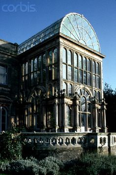 I will build a conservatory and attach it to the library and parlour, like at Flintham Hall