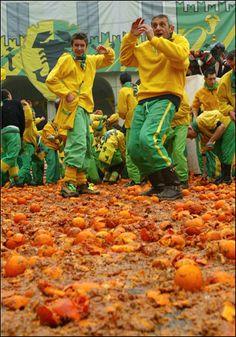 Orange Throwing Festival,  Ivrea Torino , province of Torino , Piemonte region Italy