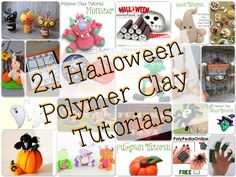 21 Halloween Tutorials for Polymer Clay | Ghosts, Monsters, Ghouls, Animals, Pumpkins, & Canes too!
