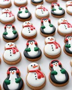 pinguinen schneemann weihnachtsplätzchen einfach