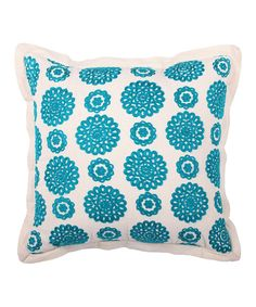 The soft colors and comfy fabrics of this throw pillow add a pop of elegance to your living space décor. Soft Colors, Living Spaces, Teal, Comfy, Throw Pillows, Fabric, Bedroom Ideas, Decor, Products