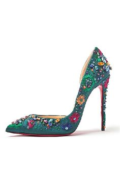 Jeweled shoes.. christian louboutin