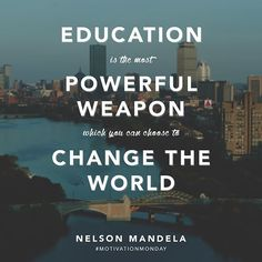 How will you use your education to change the world? #bused #MotivationMonday