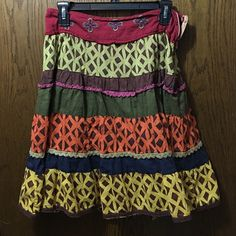 💥SALE 💥 Rue 21 Colorful Skirt I absolutely LOVE this skirt!  Unfortunately it didn't fit so I am reposhing it. Perfect condition. No rips or stains. Side zip. Size large. Super cute! Rue 21 Skirts A-Line or Full