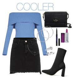 """""""COOLER"""" by karina-araya on Polyvore featuring BCBGMAXAZRIA, Kate Spade, Melissa Odabash and Maybelline"""