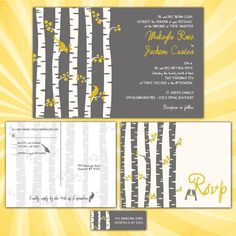 nature wedding invitation ideas birch - Google Search