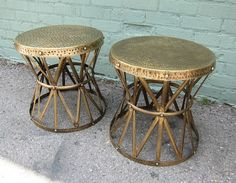 Brass Hammered Side Table / Coffee Table by DesignMIXFurniture