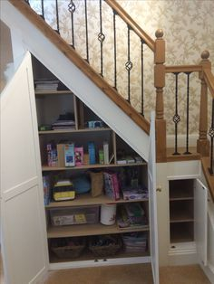 under stair storage making the most of the space