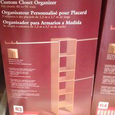 This looks like an easy closet idea.